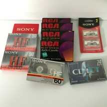 LOT - RCA HI-Fi Stereo 60 min Sony HF 90 & 60 min Sony CD-IT Audio caset... - $27.83