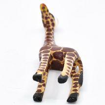 Hand Carved & Painted Jacaranda Wood Santa Hat Giraffe Safari Christmas Figurine image 4