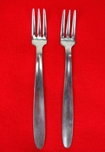 """2X Cocktail / Seafood Forks Englishtown ENS2 Stainless Glossy Flatware 5 1/2"""" - $23.76"""