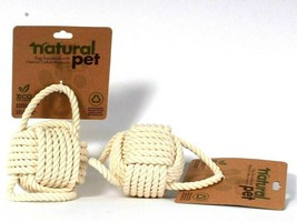 2 Count Natural Pet Eco Friendly 100% Biodegradable Natural Cotton Rope ... - £12.23 GBP