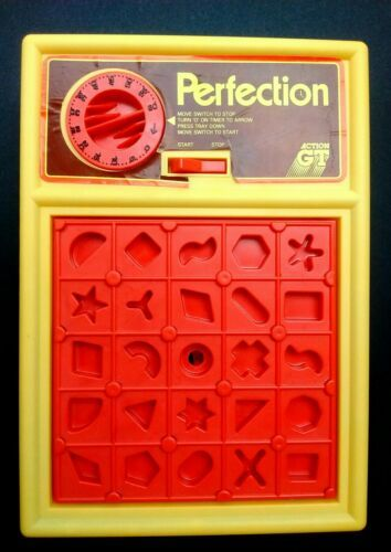 Vintage 1980s PERFECTION 100% Original, Working & Complete Boxed Game Action GT image 4