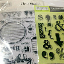 Birthday Punctuation Journal Rubber Stamps Danelle Johnson Hampton Art Clear Lot - $18.57