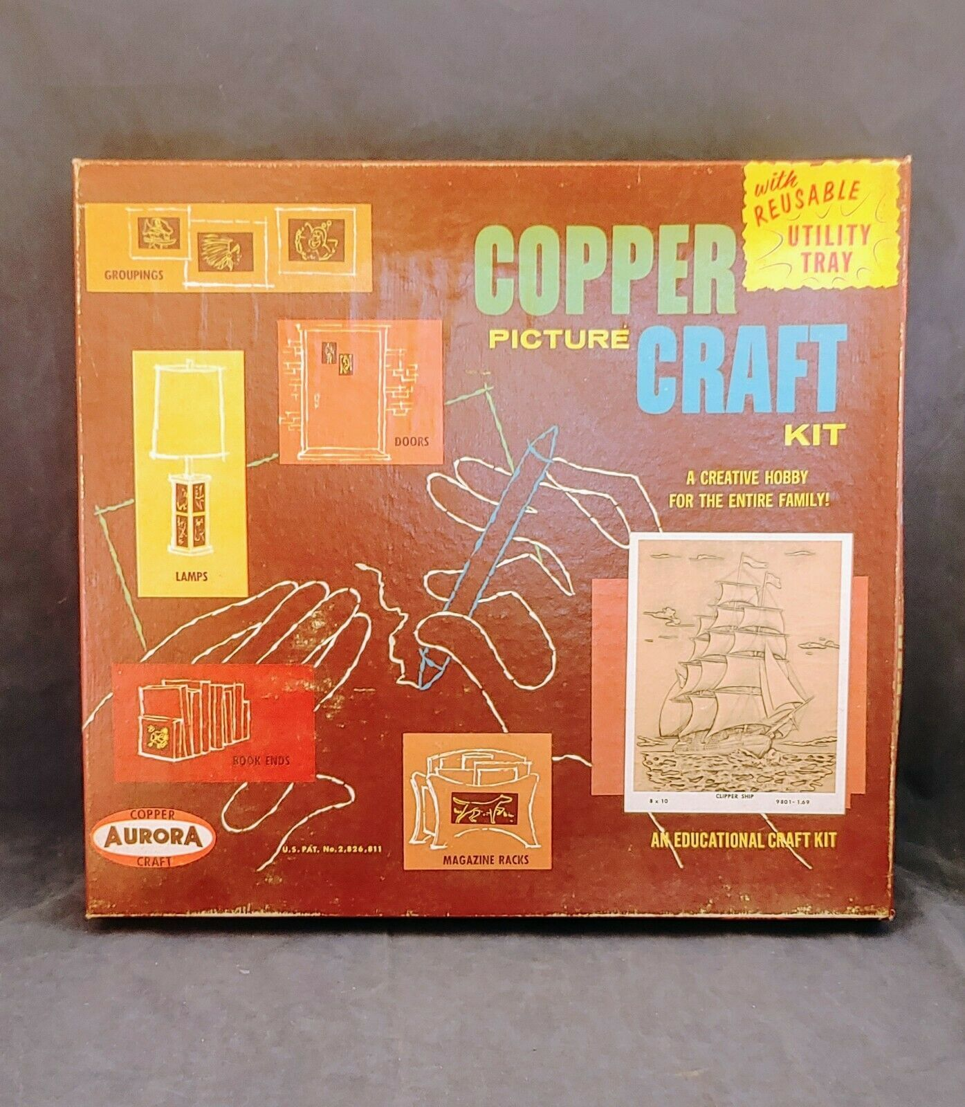Vintage Aurora Copper Picture Craft Kits 1961.  - $8.66