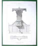 ARCHITECTURE PRINT : France Pulpit in Church of Flers - $8.10