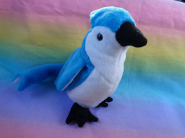 Vintage 1997 TY Beanie Baby Rocket Blue Jay Rare Stamped Tush Tag w/ Han... - $14.36