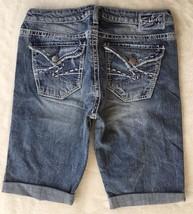 SILVER JEANS Sale Buckle Mid Rise Surplus Flap Denim Stretch Jean Shorts Size 27 - $23.34