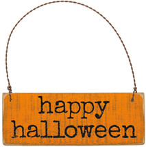 PBK Halloween Decor - Happy Halloween Prim Barn Slat Sign - $9.85