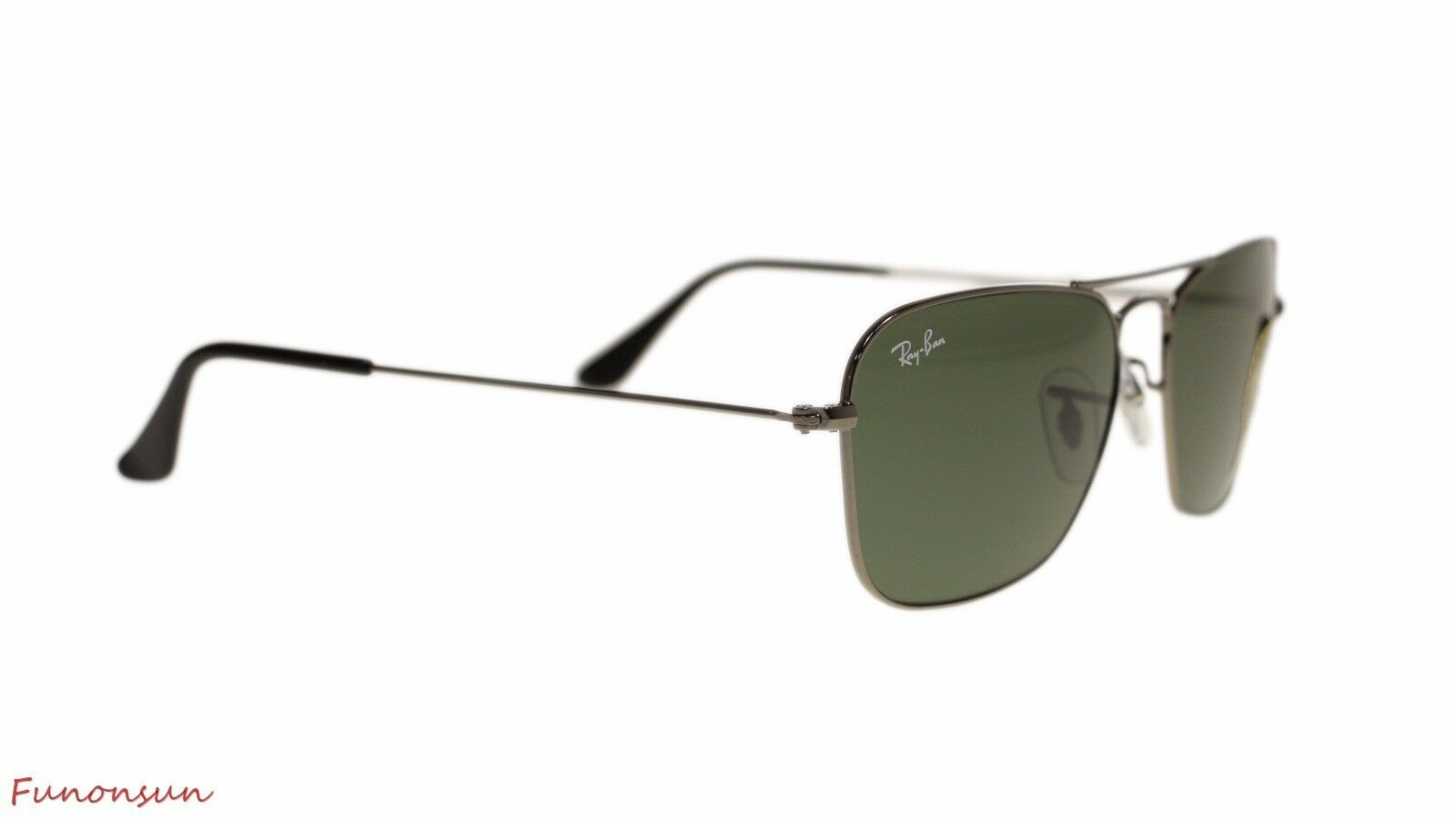 Ray Ban Mens Sunglasses RB3136 004 Gunmetal Green Lens 55mm Authentic