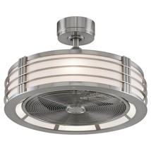 """Modern Farmhouse Beckwith Ceiling Fan Brushed Nickel Brand New in Box  23.25"""" - $523.71"""