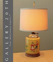 MID CENTURY DANISH JUG TABLE LAMP! Eames Vtg 50s Modern Handpainted Denm... - €750,69 EUR