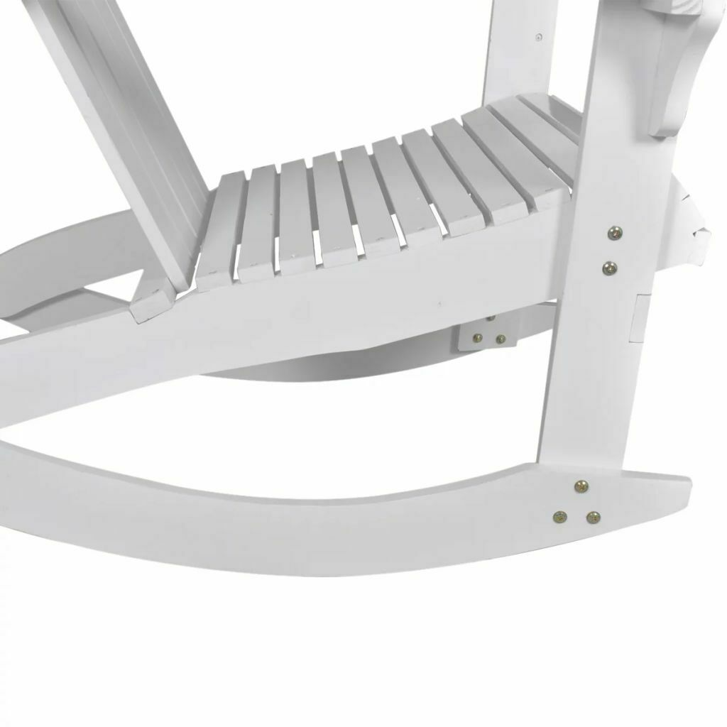 vidaXL Garden Rocking Chair Wood White Rocking Chair Hardwood Firwood Seat image 5
