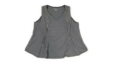 Lane Bryant Size 14 /16 Houndstooth Sleeveless Womens Career Top Zipper Accents  - $20.90