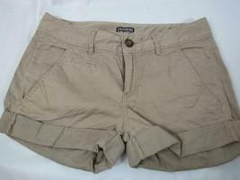 EXPRESS Tan Cotton Spandex Blend 5 Pocket Shorts Size 2 - $23.74