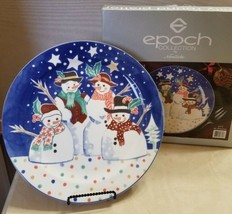 """Epoch Collection by Noritake Snowman Family 12.5"""" Round Serving Platter ... - $19.99"""