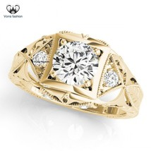 Women's Band Wedding Ring Round Cut White CZ 14k Yellow Gold Plated 925 ... - ₨5,766.44 INR