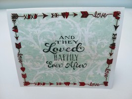 A couples handmade blank  red and black greeting card - $3.00