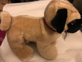 "Build A Bear PUG Dog Stuffed Plush Tan and Black 13"" - $12.86"