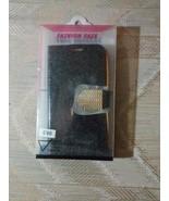 LG Leon C40 Glitter Pouch Phone Case Diamond Rhinestone Clasp Black Gold... - $6.92