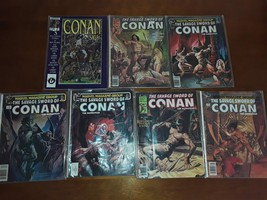 Huge lot of Seven Vintage Savage Sword of Conan Marvel Magazines - $39.95