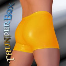 ThunderBox Golden Yellow Stretch PVC Gladiator Shorts S-M-L-XL - $25.00