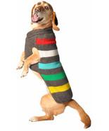 Charcoal Stripe Dog Sweater Chilly Dog Hand Knit Wool  XXS-XXXL Pet Pupp... - $32.66+