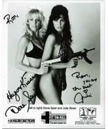 DONA SPEIR & JULIE STRAIN  8 X 10 BW PHOTO SIGNED FIT TO KILL VERY RARE - $74.95