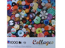 "Collages: Lisa Fondo: ""Button, Button"" 1000 Piece Puzzle - $24.98"