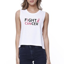 Fight Cancer I Can Womens White Crop Top - $14.99