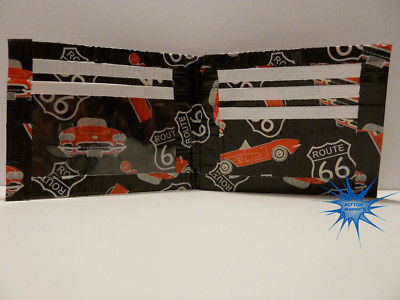 Handmade duct tape wallet with Route 66 pictures all over it (new design)