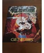 Vintage Sub Terrania Sega Genesis Mini Poster - $12.95