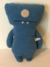 """UglyDoll Wedgehead Ugly Classic Plush Doll 2004 Stuffed Animal 13"""" Blue - $24.99"""