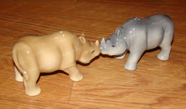 Rhino Salt & Pepper Shakers (Attractives Collection, 11301) Magnetic, Rh... - $18.32