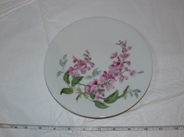 "H&C Heinrich Wisteria Salad Plate 1 plate 7 3/4"" White Pink Flowers ! - $34.64"