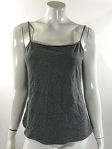 GH Bass Womens Tank Top Size Large Solid Gray Spaghetti Strap Cami - $8.90