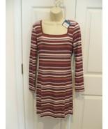 NWT $42 ARIZONA BURGUNDY STRIPE BODY CON DRESS  SIZE JR. LARGE fits 9-11 - $29.69