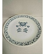 "Set of Four (4) Corelle by Corning BLUE HEARTS 10"" Dinner Plates USA - $23.76"