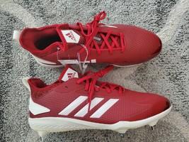 Adidas Adizero Afterburner V Metal Baseball Cleats Men's Size 12.5 red wh cg5217 - $50.00