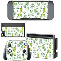 Nintendo Switch Joy-Con Dock Console Vinyl Skin Decal Stickers Pastel Weed Leaf - $9.50
