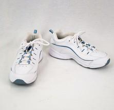 Easy Spirit Shoe Womens Sz 7.5 White w Blue Details Esromy Athletic Shoes - $27.42