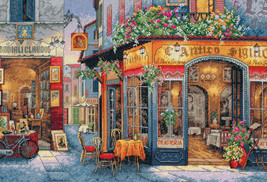 """Dimensions Gold Collection Counted Cross Stitch Kit 16""""X11""""-European Bistro (16  - $45.53"""