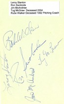 1960's NEW YORK METS Multi SIGNED ALBUM PAGE RUBE WALKER TUG McGRAW 5 AU... - $89.99