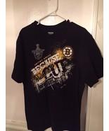 Reebok Black Short Sleeve Stanley Cup Playoffs Boston Bruins XL - $9.75