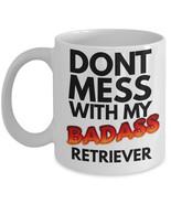 """Retriever Mug """"Badass Retriever Dog Coffee Mugs"""" Great Gift For A Golden... - $14.95"""