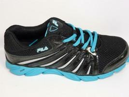 Fila Swyft Cool Max Femmes Chaussures Course en Noir/Bleu Taille 7W