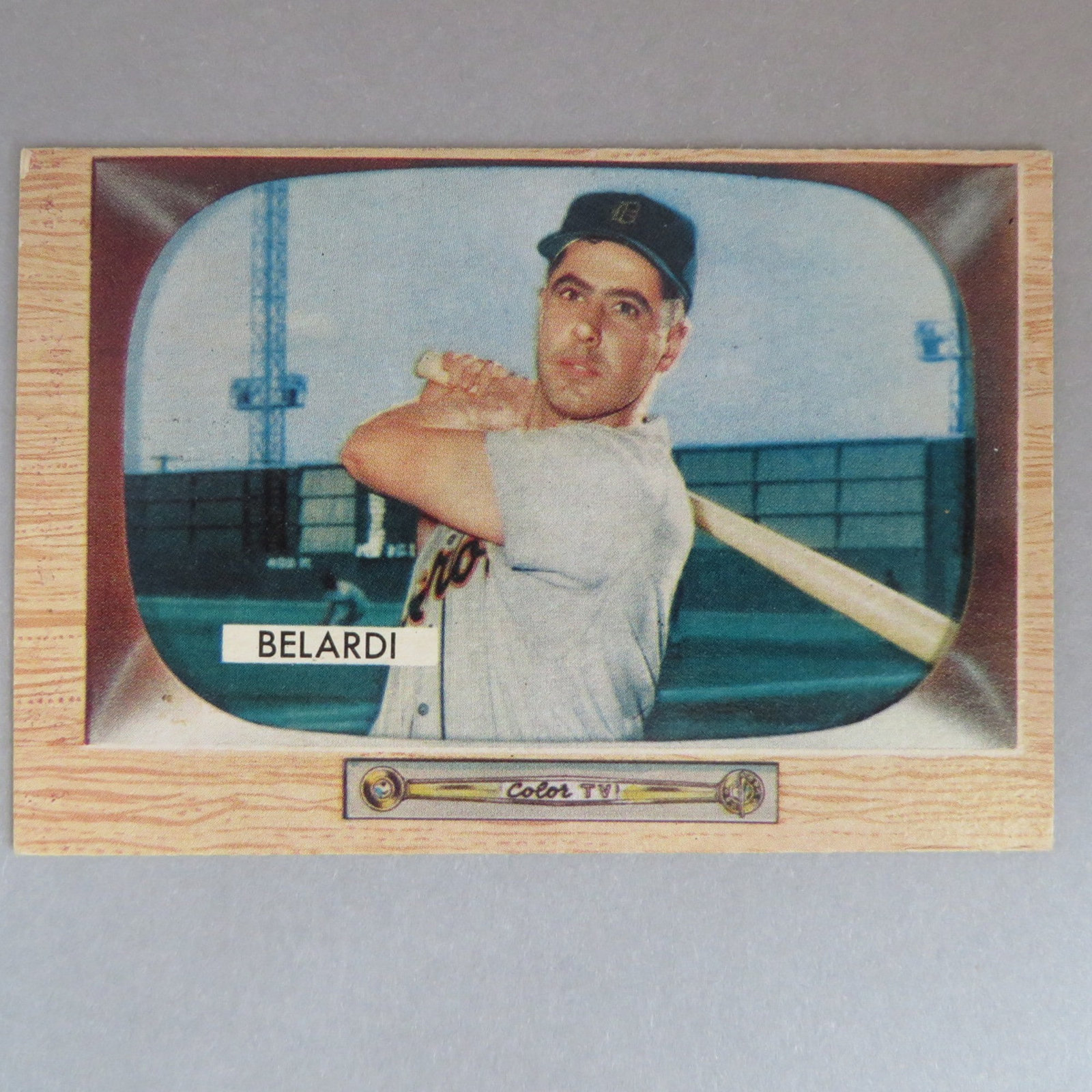 Primary image for Vintage 1955 Bowman #36 Wayne Belardi, Detroit Tigers Baseball Card, Gift for Hi