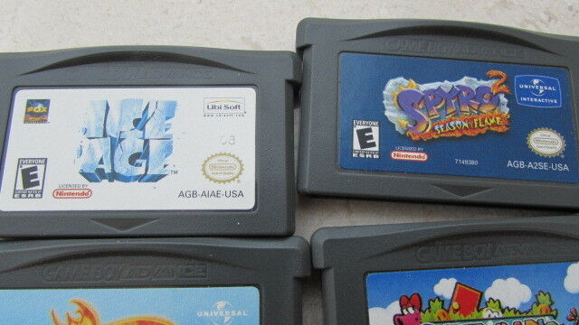 Gameboy Advance Used Game Bundle of 8 games from 2001-2003