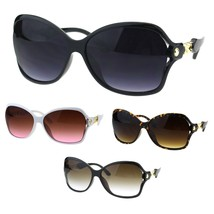 Womens Metal Chain Arm Jewel Oversized Plastic Butterfly Sunglasses - $9.95
