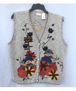 Bobbie brooks fall pumpkin patch sweater vest women s size 18w 20w thumbtall