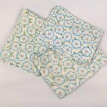 Set 3 VTG Feedsack? Pillowcases Blue White Carnations Floral Flower Cott... - $33.65