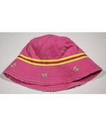 THE CHILDRENS PLACE NWT GIRLS SIZE 10-14 HAT PINK YELLOW BUTTERFLY BUTTE... - $4.94